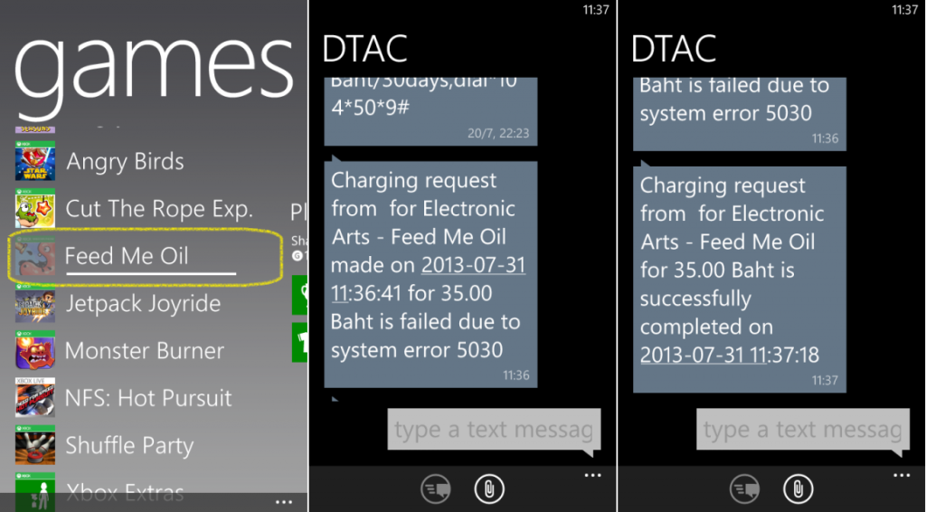 Windows Phone Store DTAC