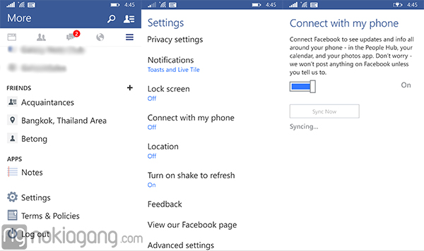 Connect-Facebook-with-my-phone