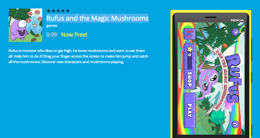 Rufus-and-the-Magic-Mushrooms-app-free-of-the-day
